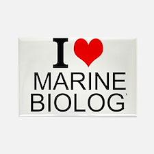 I Love Marine Biology Magnets