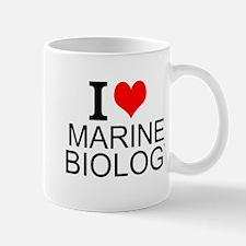 I Love Marine Biology Mugs