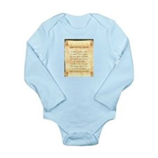 Cute Viking prayer Long Sleeve Infant Bodysuit