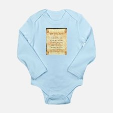 Traditional Long Sleeve Infant Bodysuit
