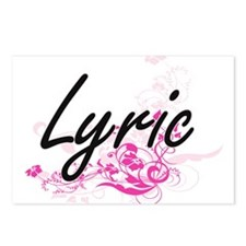 Lyric Artistic Name Desig Postcards (Package of 8)