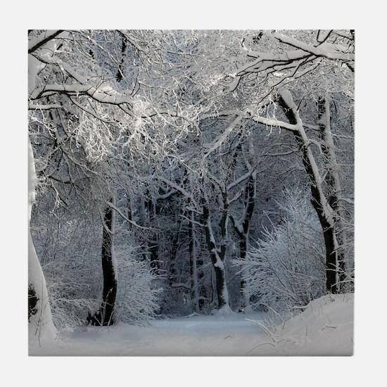 Winter Tile Coaster