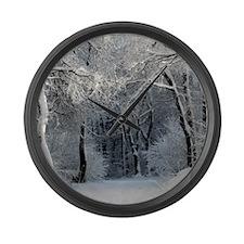 Winter Large Wall Clock