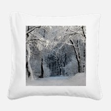 Winter Square Canvas Pillow