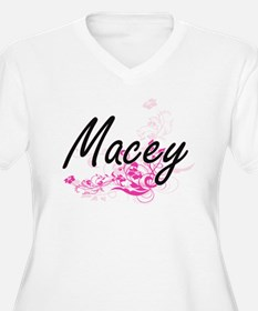 Macey Artistic Name Design with Plus Size T-Shirt