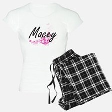 Macey Artistic Name Design pajamas