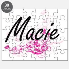 Macie Artistic Name Design with Flowers Puzzle