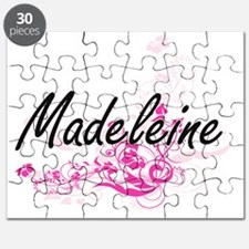 Madeleine Artistic Name Design with Flowers Puzzle