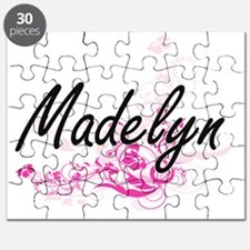 Madelyn Artistic Name Design with Flowers Puzzle