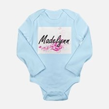 Madelynn Artistic Name Design with Flowe Body Suit