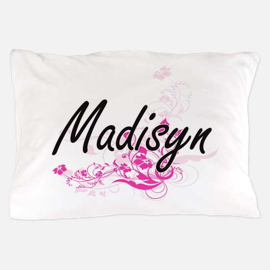 Madisyn Artistic Name Design with Flow Pillow Case