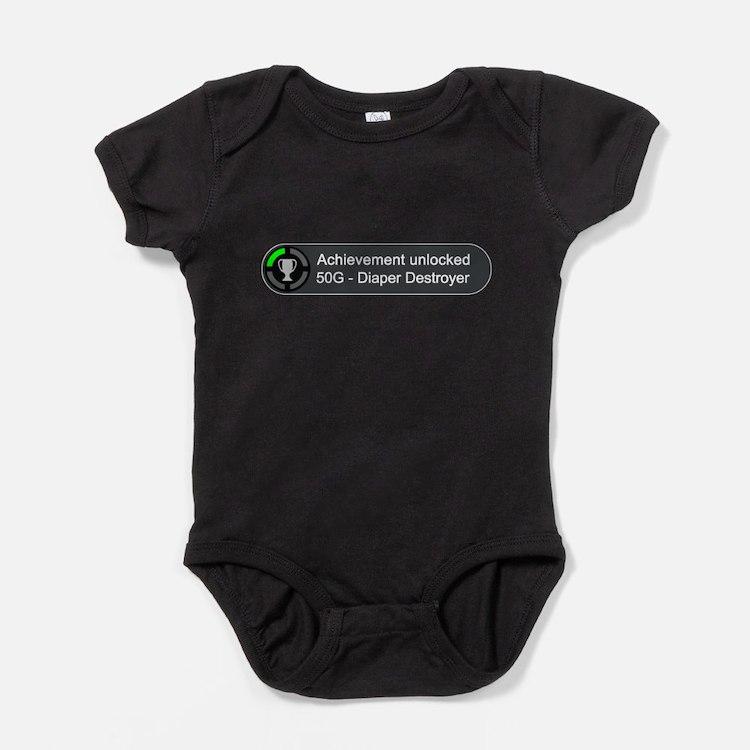 Cute Diaper boy Baby Bodysuit