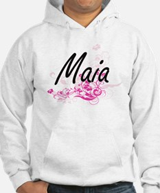 Maia Artistic Name Design with F Hoodie
