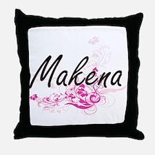 Makena Artistic Name Design with Flow Throw Pillow