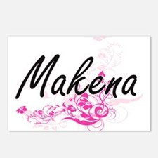Makena Artistic Name Desi Postcards (Package of 8)
