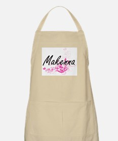 Makenna Artistic Name Design with Flowers Apron