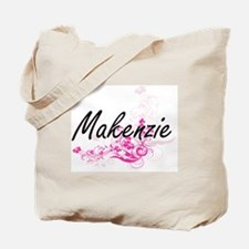 Makenzie Artistic Name Design with Flower Tote Bag