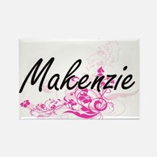Makenzie Artistic Name Design with Flowers Magnets