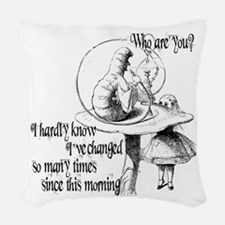 Alice abd Absolem Woven Throw Pillow