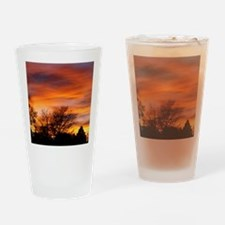 ORANGE SUNSET Drinking Glass