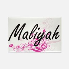 Maliyah Artistic Name Design with Flowers Magnets