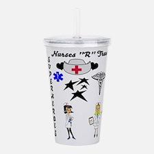 Nurses Are Superheroes Acrylic Double-wall Tumbler