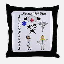 Nurses Are Superheroes Throw Pillow