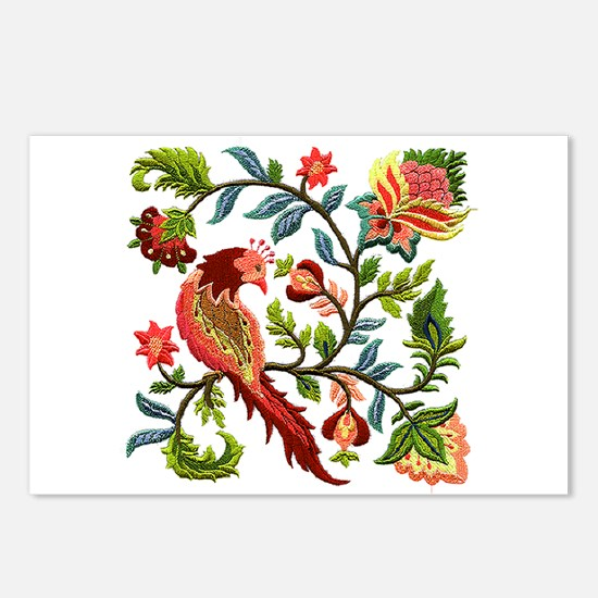 Jacobean Embroidery Postcards (Package of 8)