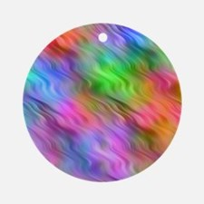 Colorful Wavy Pattern Round Ornament