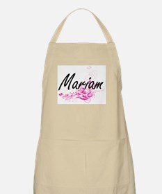 Mariam Artistic Name Design with Flowers Apron