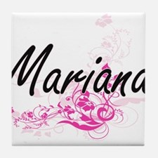 Mariana Artistic Name Design with Flo Tile Coaster