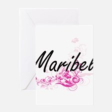 Maribel Artistic Name Design with F Greeting Cards