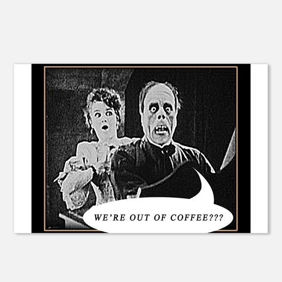Phantom is Out of Coffee! Postcards (Package of 8)