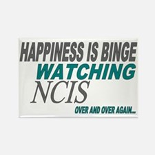 Happiness is Watching NCIS Rectangle Magnet
