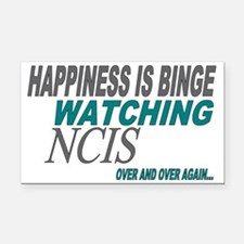 Happiness is Watching NCIS Rectangle Car Magnet