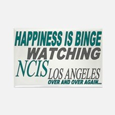 Happiness is Watching NCIS LA Rectangle Magnet