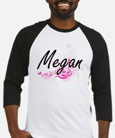 Megan Artistic Name Design with Fl Baseball Jersey