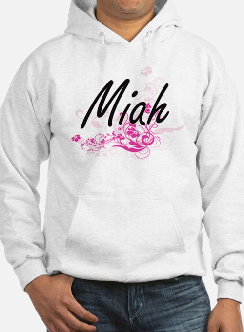 Miah Artistic Name Design with F Hoodie Sweatshirt