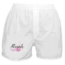 Micaela Artistic Name Design with Flo Boxer Shorts