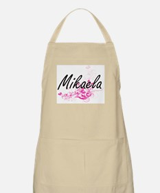 Mikaela Artistic Name Design with Flowers Apron