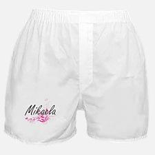 Mikaela Artistic Name Design with Flo Boxer Shorts