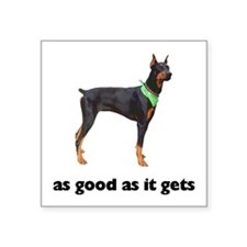 "Cute Cute doberman pinscher Square Sticker 3"" x 3"""
