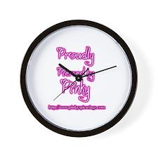 Unique Pink chicken Wall Clock