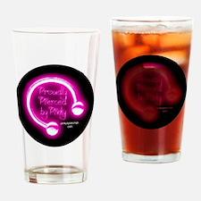 Cool Pink chicken Drinking Glass