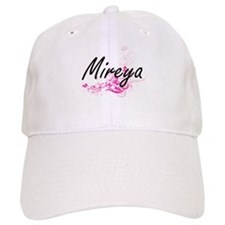 Mireya Artistic Name Design with Flowers Baseball Cap