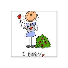 "Funny Gardening Square Sticker 3"" x 3"""