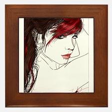 Cute Beautiful redheads Framed Tile