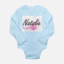Natalie Artistic Name Design with Flower Body Suit