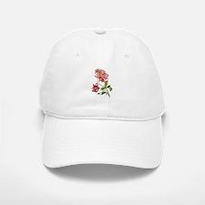 Embroidered Pink Peonies Baseball Baseball Cap