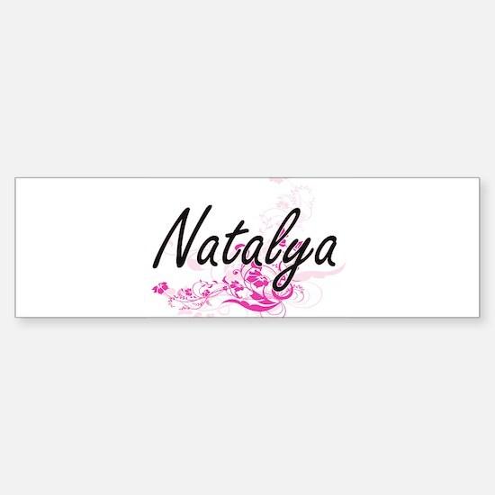 Natalya Artistic Name Design with F Bumper Bumper Bumper Sticker